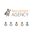 recruitment agency vector image vector image