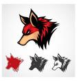 Red Fox Symbol vector image vector image