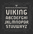 Sanserif font in historical style vector image vector image