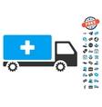 Service Car Icon With Free Bonus vector image