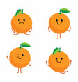 set cartoon oranges vector image vector image