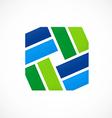 shape decorative square logo vector image