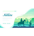 silhouette cowboy riding a horse in wild west vector image vector image