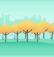 simple graphic of city park vector image vector image
