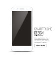 smartphone mockup design white modern vector image vector image