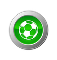 soccer ball button vector image vector image