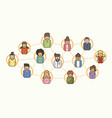 social network communication community online vector image vector image