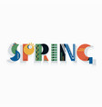 spring geometric lettering vector image vector image