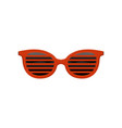 stylish jalousie sunglasses with red frame and vector image vector image