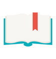stylized open book vector image