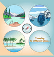 travel to different places vector image