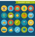 Trendy detailed tourism icon set vector image vector image