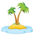 Tropic Island with Coconut Palm vector image vector image