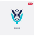 two color corncob icon from gastronomy concept vector image vector image