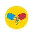vitamins icon vector image vector image