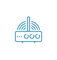 wi-fi router linear icon concept wi-fi router vector image