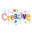 word creative decorative type lettering text vector image vector image