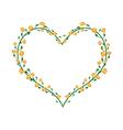 Yellow Padauk Flowers in A Heart Shape vector image vector image