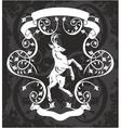 Heraldic deer in a frame vector image