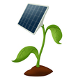 Plant solar battery vector image