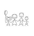 cartoon comic family vector image