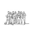 group of hand drawn business people walking vector image