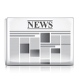 object newspaper vector image