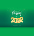 2022 golden numbers happy new year celebration vector image vector image