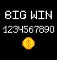 8 bit big win vector image vector image