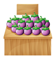 A stall with an empty board vector image vector image