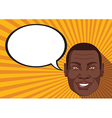 African with smiley face says comic bubble vector image