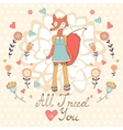 All I need is you romantic card with cute vector image vector image