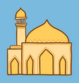 arab mosque icon hand drawn style vector image