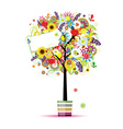 Beautiful summer tree in pot for your design vector image vector image