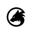 black wolf logo icon vector image