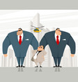 boss with two bodyguards vector image vector image