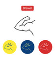 brawn line fit icons vector image vector image