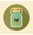 Can container for milk retro flat icon vector image vector image