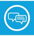 Chatting sign icon vector image vector image