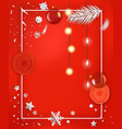 christmas greeting card layout greeting card vector image