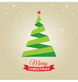 christmas tree gold card vector image vector image