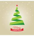 christmas tree gold card vector image