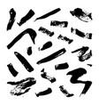 collection hand-drawn splashes set brush vector image