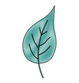 crayon silhouette of green light color of big vector image vector image