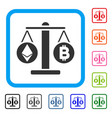 cryptocurrency weight framed icon vector image vector image