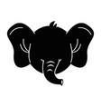 cute elephant character icon vector image vector image