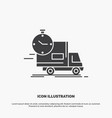 delivery time shipping transport truck icon glyph vector image vector image