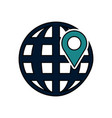 earth globe diagram icon image vector image vector image