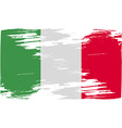 Flag of Italy with old texture vector image