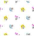 funny dogs animal seamless pattern vector image vector image